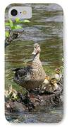 Mallard Duckling Rest  IPhone Case by Neal Eslinger