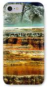 Mammoth Terrace - Yellowstone IPhone Case by Ellen Heaverlo
