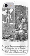 Man In The Moon, 1833 IPhone Case by Granger