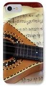 Mandolin And Partiture IPhone Case by Carlos Caetano