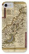 Map Of Palestine, 1588 IPhone Case