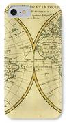 Map Of The World In Two Hemispheres IPhone Case