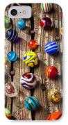 Marbles On Wooden Board IPhone Case