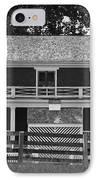 Mclean House Bw Appomattox Virgnia IPhone Case