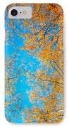 Meet In Heaven. Autumn Glory IPhone Case by Jenny Rainbow