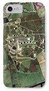 Menwith Hill Spy Base, Aerial Image IPhone Case by Getmapping Plc