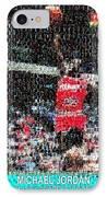 Michael Jordan Rookie Mosaic IPhone Case by Paul Van Scott