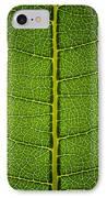 Milkweed Leaf IPhone Case by Steve Gadomski