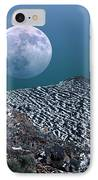 Moon-rise Over A Volcano IPhone Case