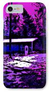 Moonlit Winter Night In The Poconos IPhone Case by George Pedro