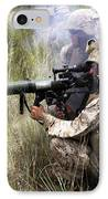 Mortarman Fires An At4 Anti-tank Weapon IPhone Case by Stocktrek Images