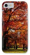Morton Arboretum In Colorful Fall IPhone Case by Paul Ge