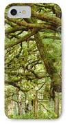 Moss-covered Trees IPhone Case by David Nunuk