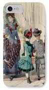 Mother And Children In Indoor Costume IPhone Case by Jules David