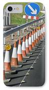 Motorway Traffic Cones IPhone Case by Linda Wright