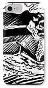 Mount Etna, Woodcut IPhone Case
