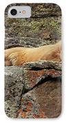 Mountain Lion Puma Concolor Lounging IPhone Case by Gerry Ellis
