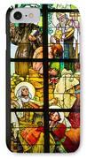 Mucha Window St Vitus Cathedral Prague IPhone Case by Matthias Hauser