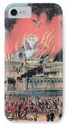New York Crystal Palace Fire, 1858 IPhone Case by Photo Researchers
