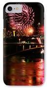 Niagara Falls Fireworks IPhone Case by Mark J Seefeldt