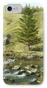 Northumberland, England A River Flowing IPhone Case by John Short