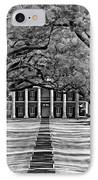 Oak Alley Monochrome IPhone Case by Steve Harrington