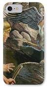 Oedipus Encountering The Sphinx IPhone Case by Roger Payne