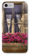 Old Balcony With Red Flowers IPhone Case by Mats Silvan