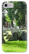 Old Cemetery In Boston IPhone Case by Elena Elisseeva