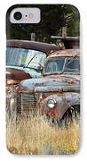 Old Farm Trucks IPhone Case by Steve McKinzie