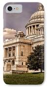 Old Rhode Island State House IPhone Case by Lourry Legarde