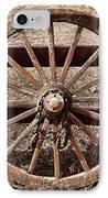 Old West Wheel IPhone Case by Kelley King