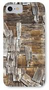 Old Wood Shingles On Building, Mendocino, California, Ca IPhone Case by Paul Edmondson