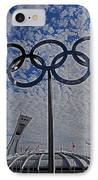 Olympic Stadium Montreal IPhone Case by Juergen Weiss