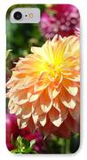 Orange Dahlia Flower Floral Fine Art Photography IPhone Case by Baslee Troutman