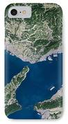Osaka, Satellite Image IPhone Case by Planetobserver