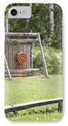 Outdoor Wooden Bulls-eye IPhone Case by Jaak Nilson