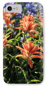 Paintbrushes Wildflowers Rainier National Park IPhone Case
