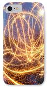 Painting With Sparklers IPhone Case by Gordon Dean II