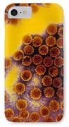 Papillomavirus Particles, Coloured Tem IPhone Case