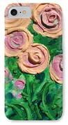 Peachy Roses Taking Form IPhone Case by Ruth Collis