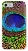 Peacock Feather Close Up IPhone Case by Garry Gay