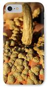 Peanut Pumpkins IPhone Case by Karen Wiles