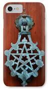 Pentagram Knocker IPhone Case by Fabrizio Troiani