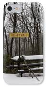 Picnic Table In Snow IPhone Case by Will and Deni McIntyre