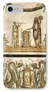 Pig Sacrifice, Roman Fresco IPhone Case by Sheila Terry