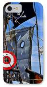 Pirate Ship With Target IPhone Case by Garry Gay