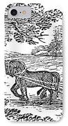 Ploughing, 19th Century IPhone Case by Granger
