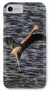 Prancing Heron IPhone Case