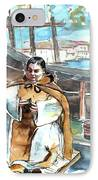 Preaching The Bible On The Conquistadores Boat In Vila Do Conde In Portugal IPhone Case by Miki De Goodaboom